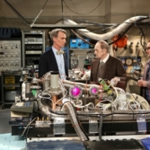 Bill Nye and Bob Newhart in The Big Bang Theory Episode 7 Season 7: