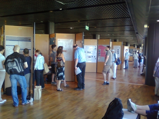 Impression of a poster session during the Origins 2011 conference