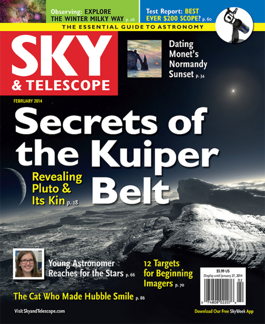 Sky & Telescope, February 2014: Secrets of the Kuiper Belt