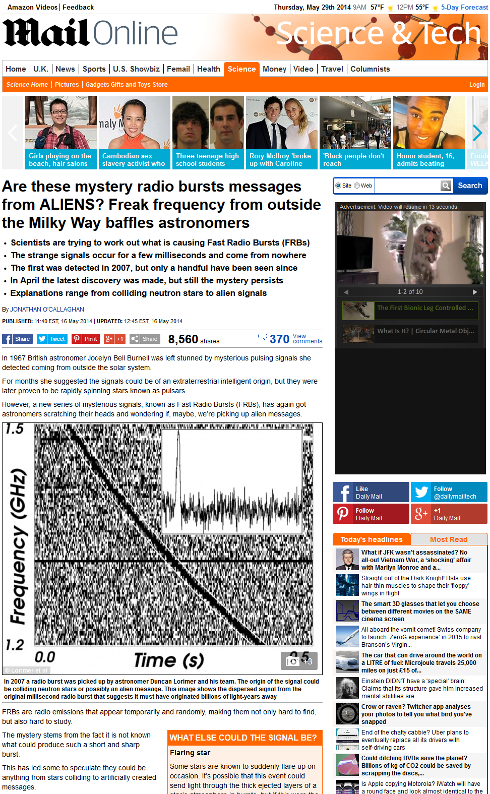 Daily Mail plagiarizes Planetary Society Blog guest post by Katherine Mack