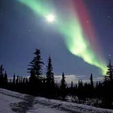 Alaska and Aurora Borealis