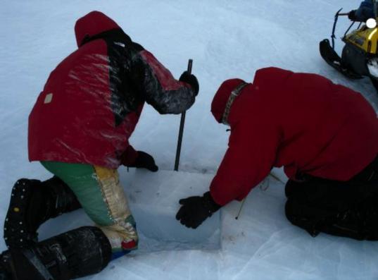 ANSMET ice sampling