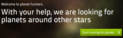 Planet Hunters home page