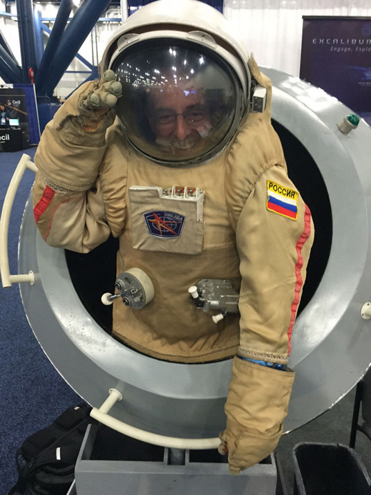 Mat in a Russian spacesuit