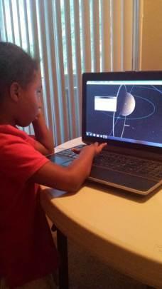 Maria explores the south pole of Mars with Celestia