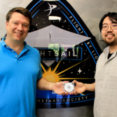 LightSail 2 mini-DVD handoff