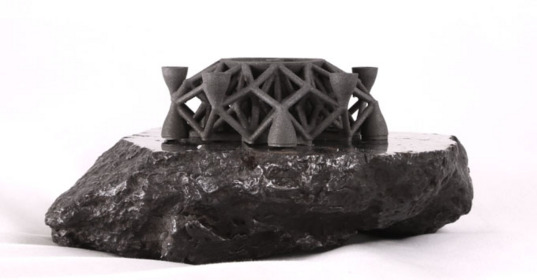 3D object printed from pulverized meteorite