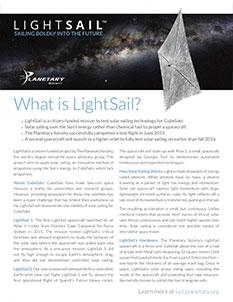 LightSail factsheet