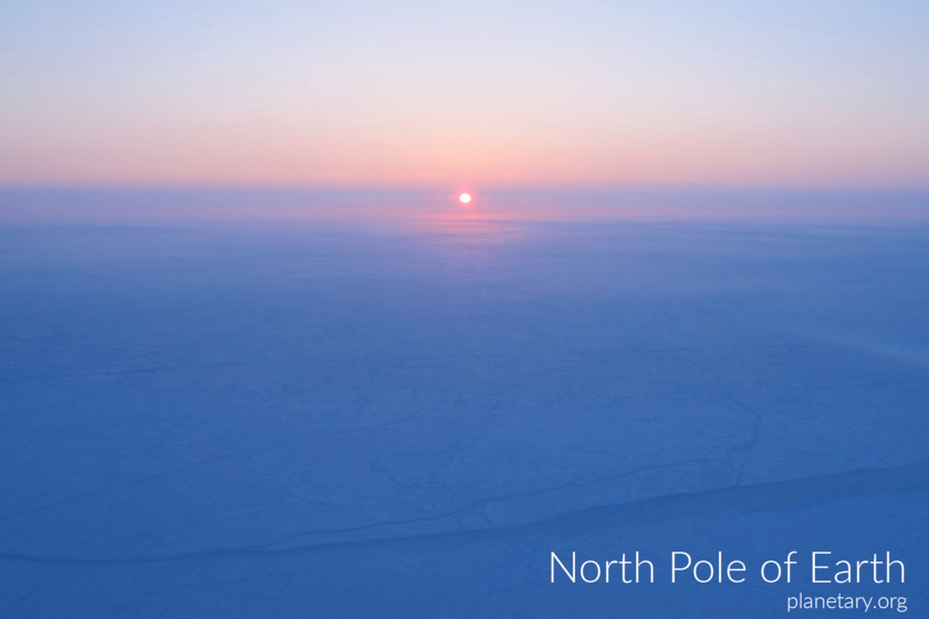 North pole postcard: Earth