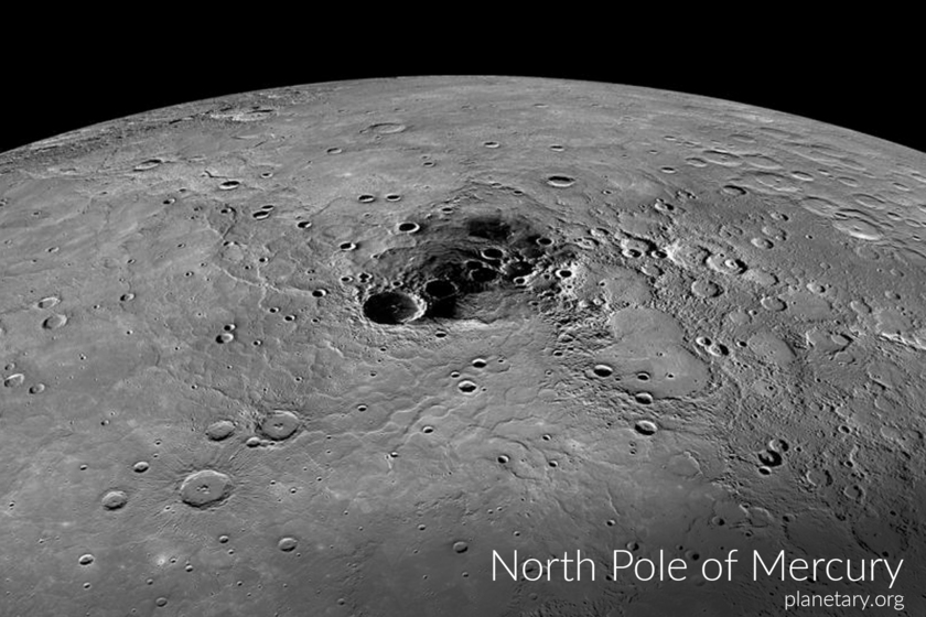 North pole postcard: Mercury