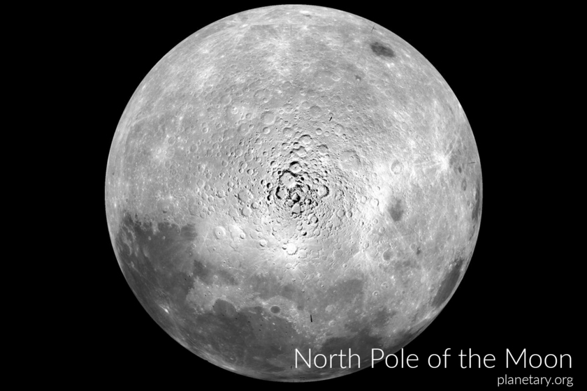 North pole postcard: Our Moon