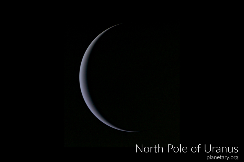 North pole postcard: Uranus