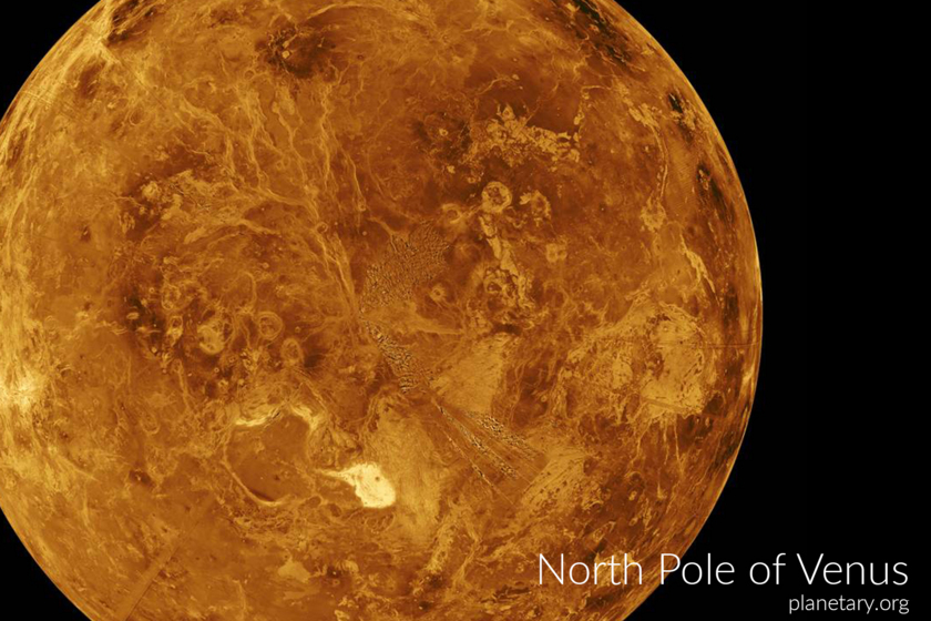North pole postcards: Venus