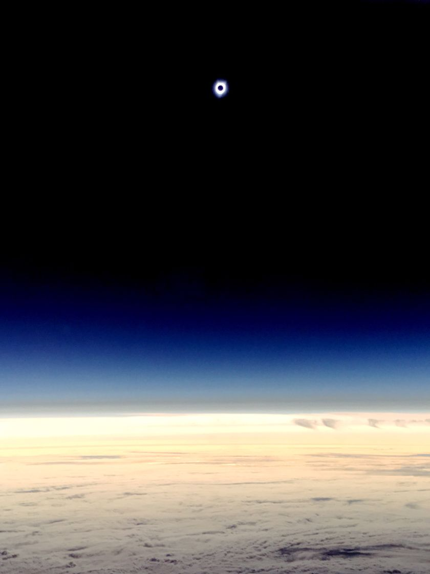 Totality at 38,000 feet