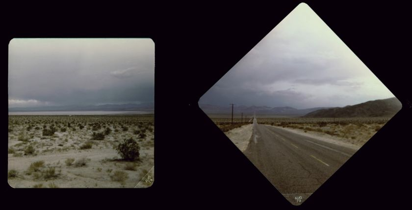 Driving back through the Mojave Desert near Coyote Dry Lake