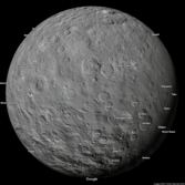 Google space maps: Ceres