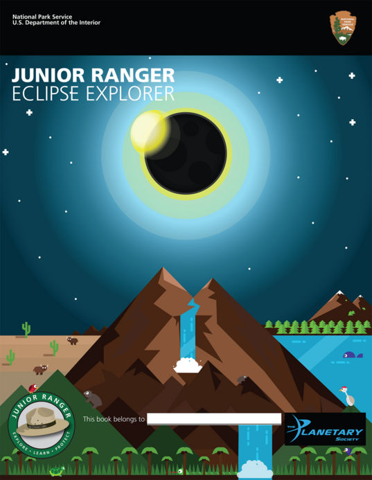 Junior Ranger Eclipse Explorer booklet cover