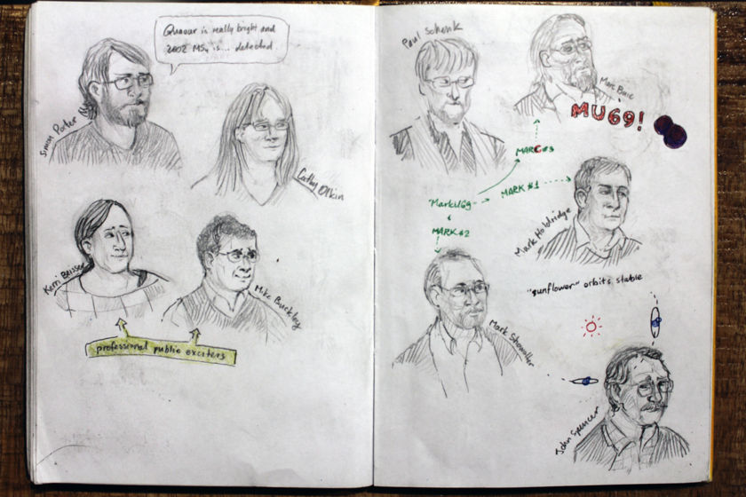 Winterhazelly's New Horizons Science Team Meeting sketchbook page 2