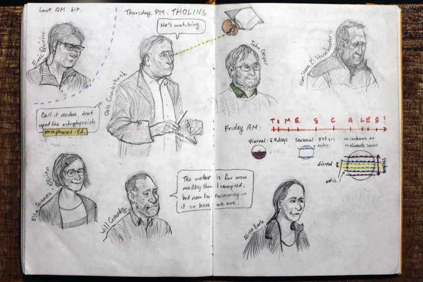 Winterhazelly's New Horizons Science Team Meeting sketchbook page 4