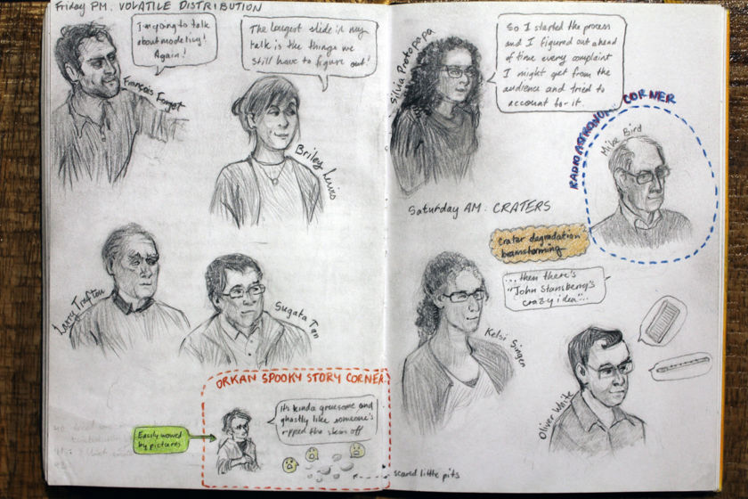 Winterhazelly's New Horizons Science Team Meeting sketchbook page 6
