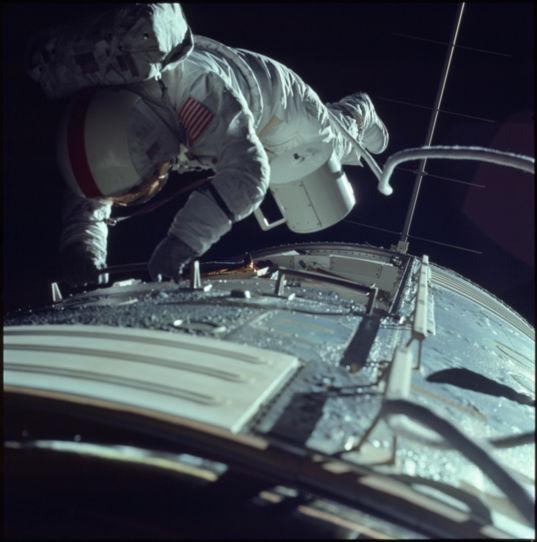 Deep space spacewalk