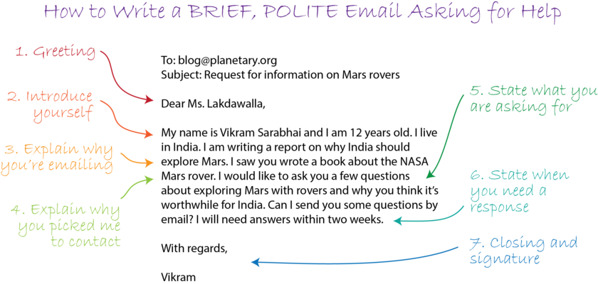 How to Write a BRIEF, POLITE Email Asking for Help