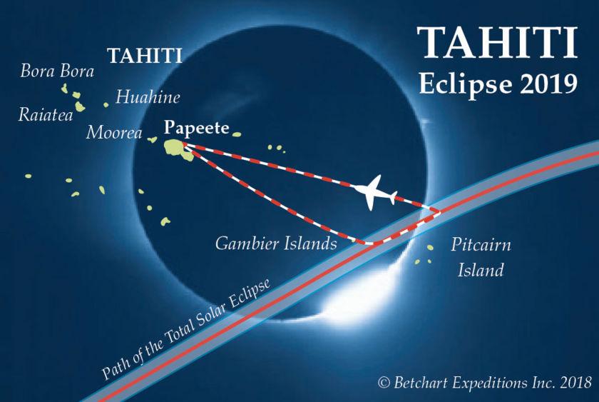 Tahiti Eclipse 2019 map