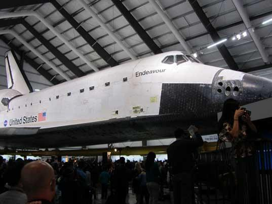 Endeavour on Opening Day at California Science Center
