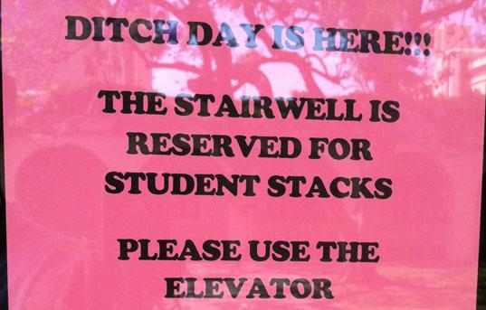 Caltech Ditch Day Sign