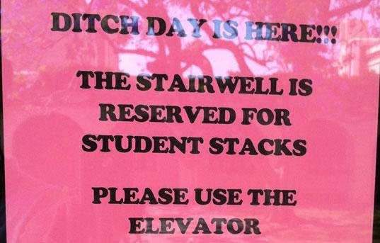 Caltech Ditch Day Sign