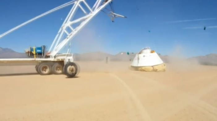 Boeing CST-100 drop test