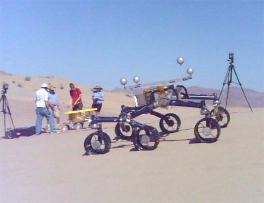 Rover testing in Dumont Dunes, May 10, 2012