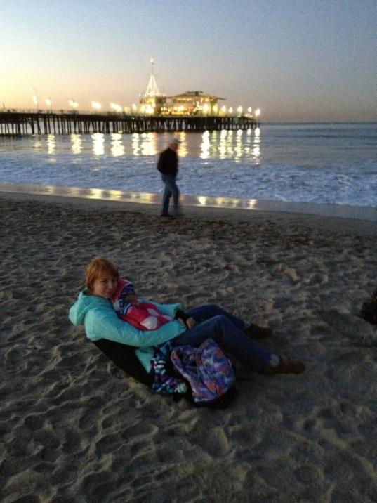 Eclipse watching on Santa Monica beach!