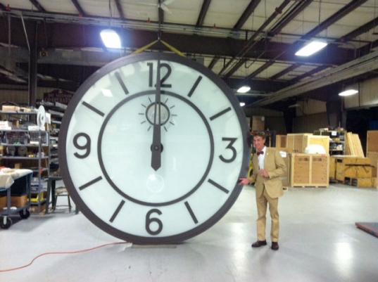 Rhodes Hall Clock in the Warehouse