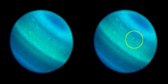 Dark and bright spots on Uranus