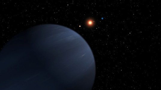 Artist's concept of 55 Cancri's fifth-discovered planet
