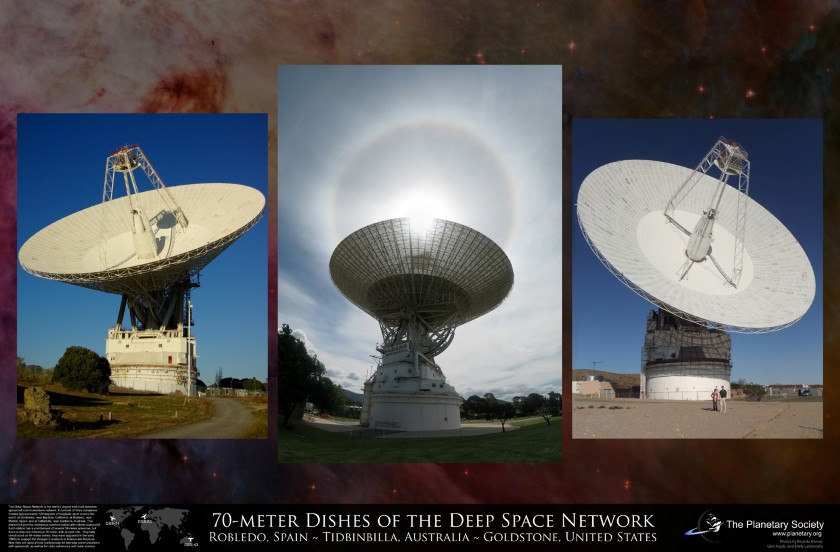 70-meter Dishes of the Deep Space Network poster