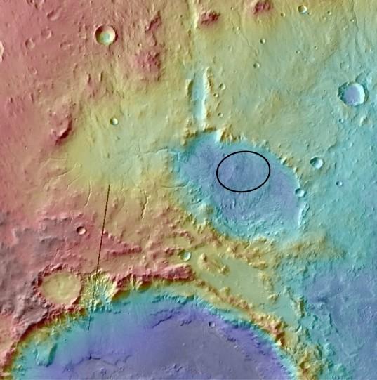 Curiosity landing site: Eberswalde