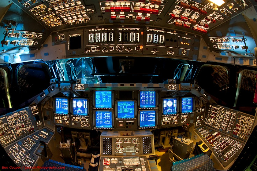 Endeavour flight deck, powered on for almost the last time 2