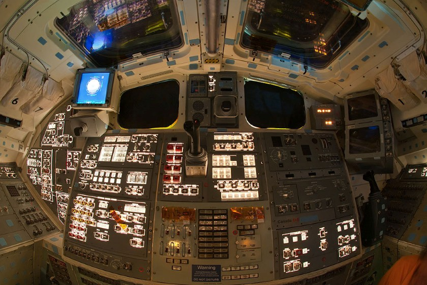 Endeavour flight deck, powered on for almost the last time 7