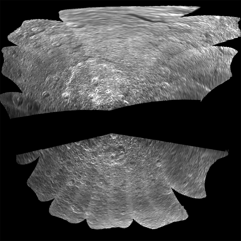 Cassini's SAR image of Iapetus