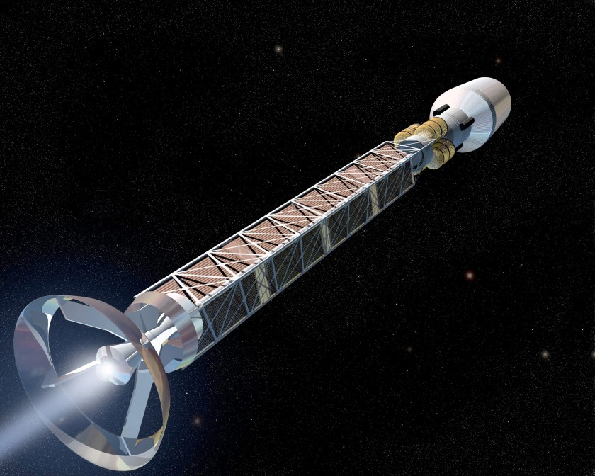 Artist's concept of antimatter propulsion system
