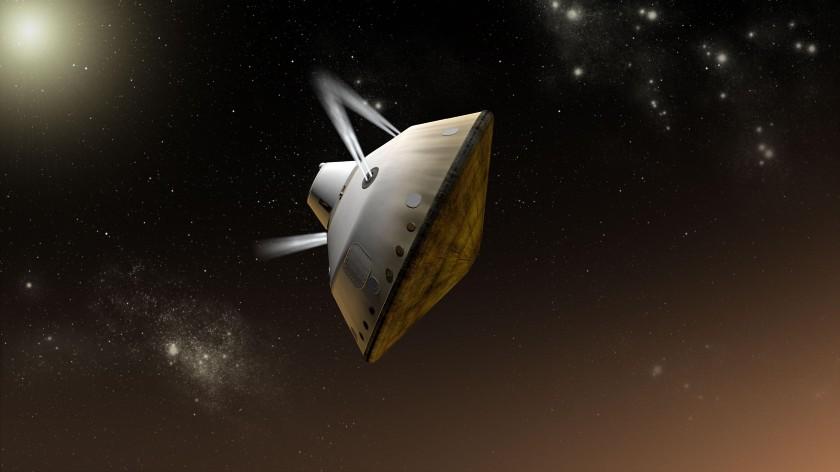 Curiosity enters Mars' atmosphere