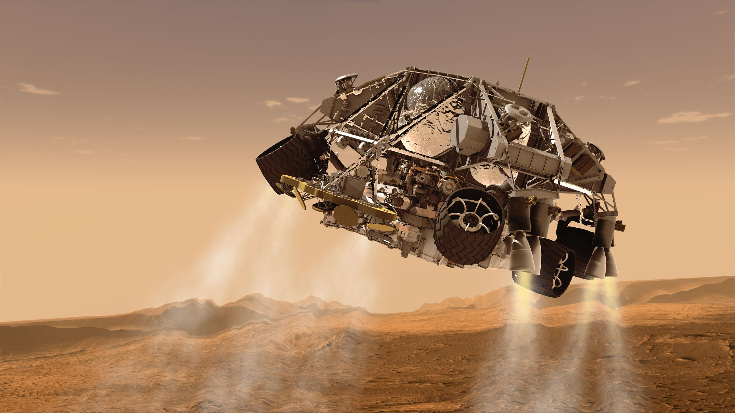 Curiosity Landing Powered Descent Phase The Planetary