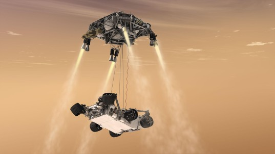 Curiosity's skycrane maneuver