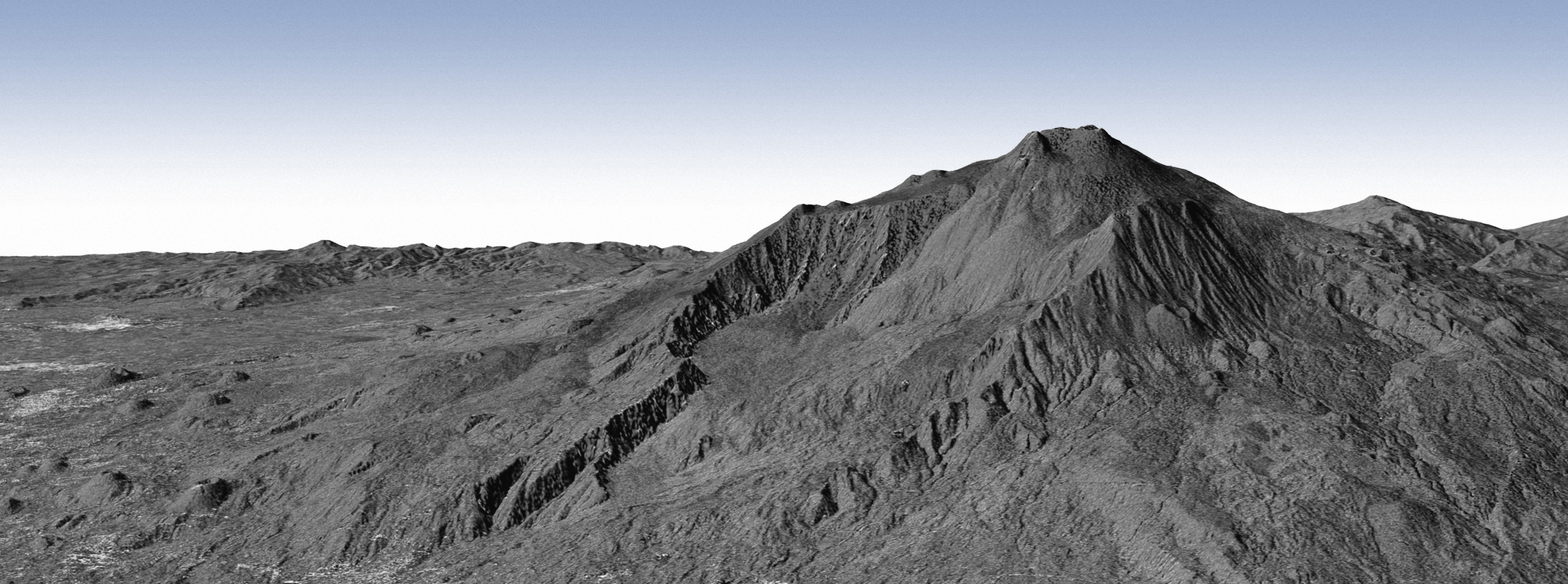 Radar Topographic View Of A Volcano The Planetary Society - Digital elevation model download