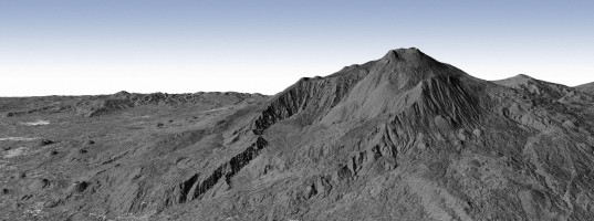 3D view of Mount Etna from radar data