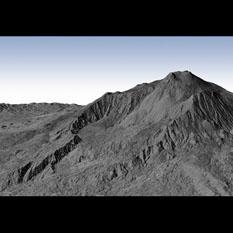 3D view of Mount Etna from radar data