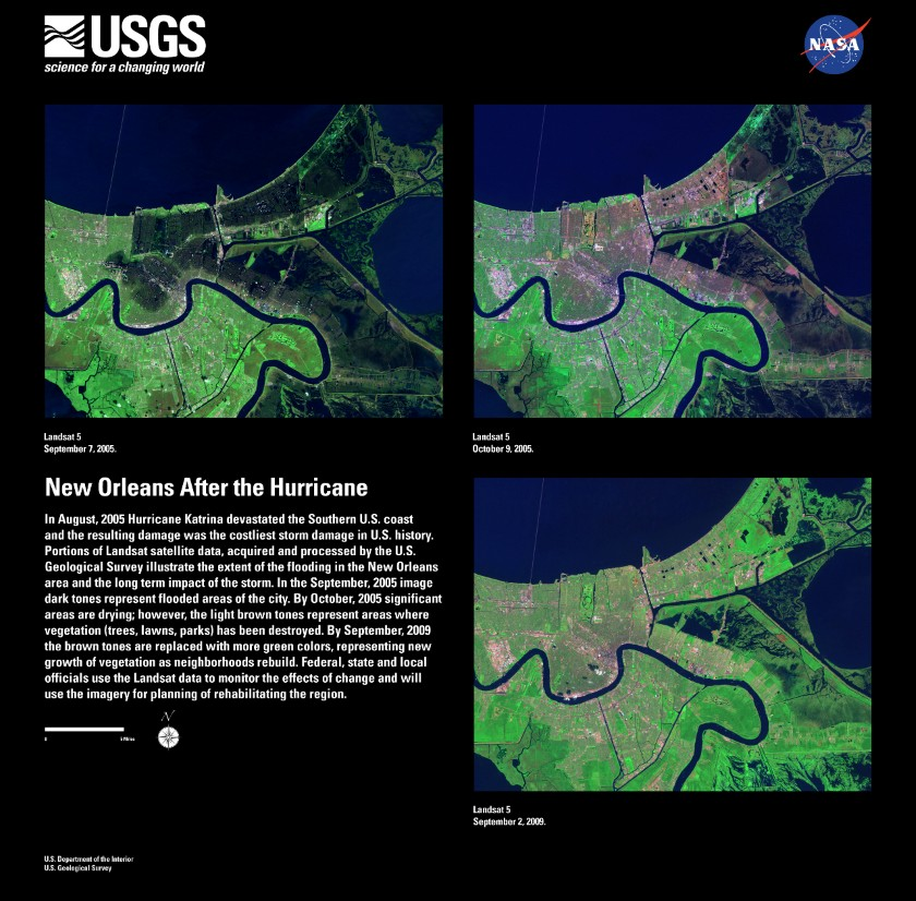 LANDSAT imagery of New Orleans, post-Hurricane Katrina