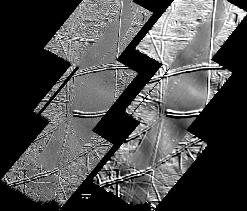 Folds in Astypalaea Linea, Europa